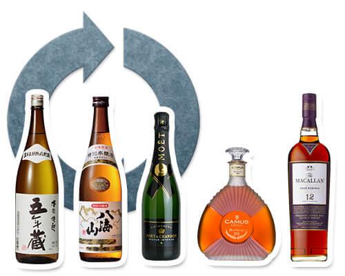 お酒のリサイクル・買取