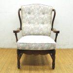 ☆ドマーニ☆一人掛け椅子/1Pソファー/木製フレーム/花柄を買い取りました(^◇^)