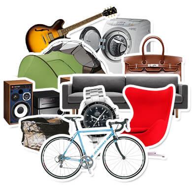 家具、家電、楽器、自転車、コンポなど高価買取いたします