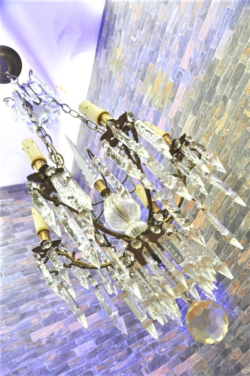 BACCARAT バカラ クリスタル アンティーク照明 本物のオールドバカラを買い取りました!(^_-)-☆