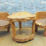 テーブルセット 椅子 2脚 木工品 ナチュラルウッド 希少品 を買い取りました!(^_-)-☆