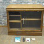 karimoku カリモク リビングボード サイドボード 書棚 TV台 テレビボードを買い取りました!(^_-)-☆