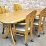 浜本工芸 ダイニングテーブルセット ダイニングチェア 食卓テーブル 食卓椅子 木製 和モダン 4脚 4人掛けを買い取りました!(^_-)-☆