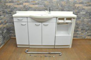 INAX イナックス 洗面化粧台 W1310×D350×H950 お手洗い 洗面台 蛇口 収納 棚 引出し 家庭用 飲食店 トイレ 化粧室 W.Cを買い取りました!(^_-)-☆