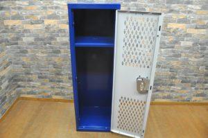 Hallowell ヴィンテージロッカー H1225×W385×D385 ブルー 青 ビンテージ オフィス 収納 家具を買い取りました!(^_-)-☆