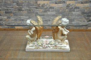 センターテーブル W1000×D600×H450 ガラステーブル ロココ調 天使 エンジェル クラシックを買い取りました!(^_-)-☆