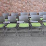 オカムラ スタッキングチェア JOIFA308 8107XT 20脚 forma フォルマ グリーン テーブル付を買い取りました(^_-)-☆