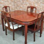 高級 花梨 無垢材 ダイニングテーブルセット 4人掛け ダイニングチェア 食卓テーブル 食卓椅子を買い取りました(^_-)-☆