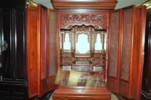 最高級 唐木 紫檀 仏壇 W875×D765×H1720 大型 仏具 彫刻 伝統を買い取りました♪(^_-)-☆