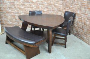ダイニングテーブルセット 5人掛け 3脚 ベンチ ダイニングチェア 食卓テーブル 食卓椅子 食卓ベンチ を買い取りました♪(^_-)-☆
